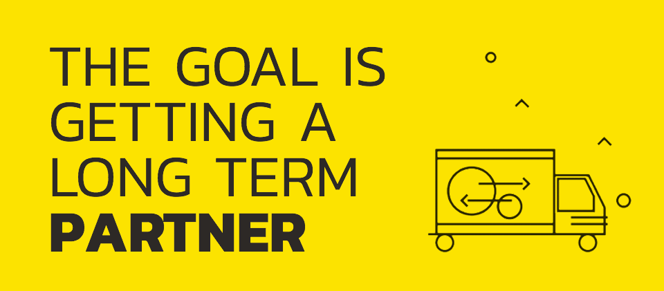 The goal is getting a long-term partner